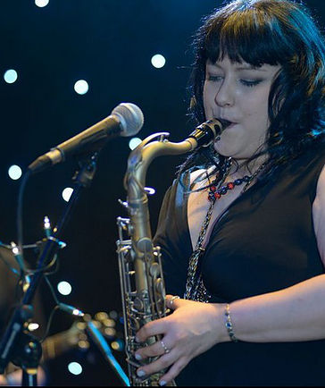 our talented female saxophonist