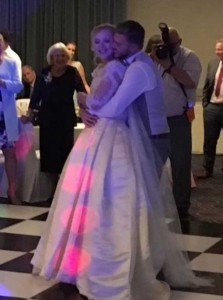 the wedded couples first dance